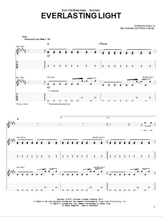 Everlasting Light sheet music