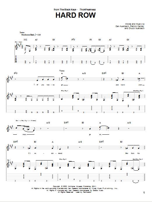 Hard Row sheet music