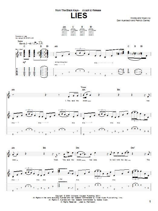 Lies sheet music