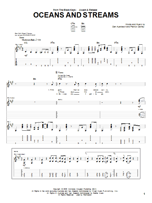 Oceans And Streams sheet music