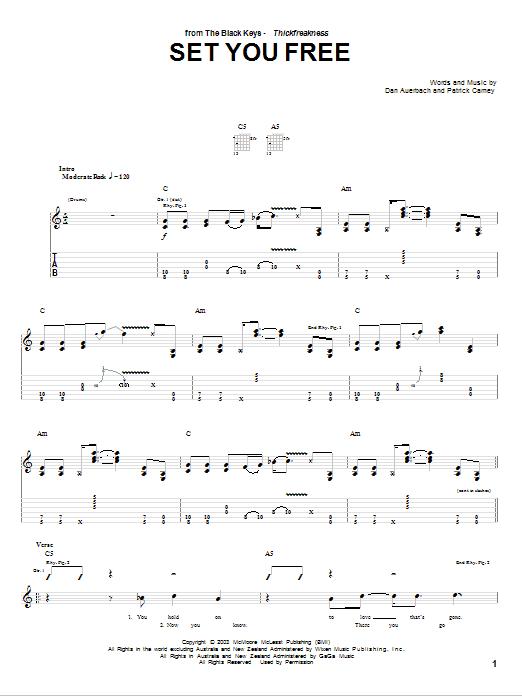Set You Free sheet music