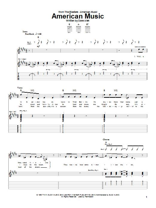 American Music sheet music