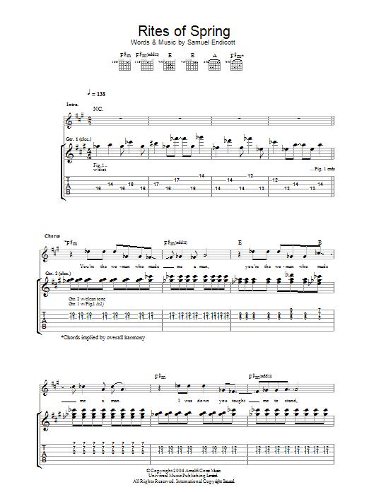 Rites Of Spring sheet music