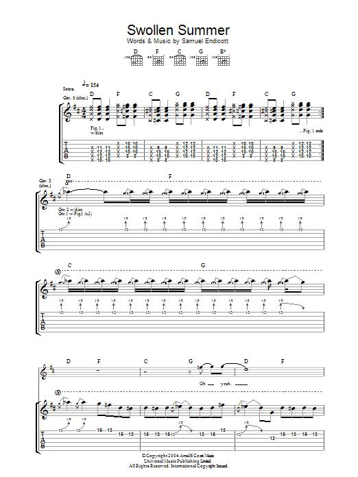 Swollen Summer sheet music