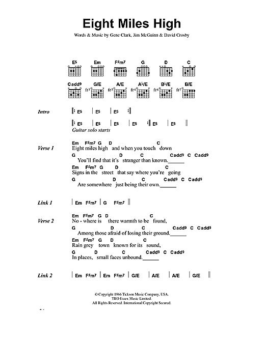 Eight Miles High sheet music