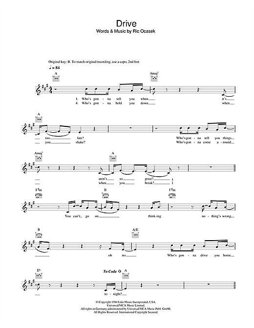 Drive sheet music