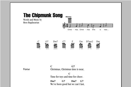 The Chipmunk Song sheet music