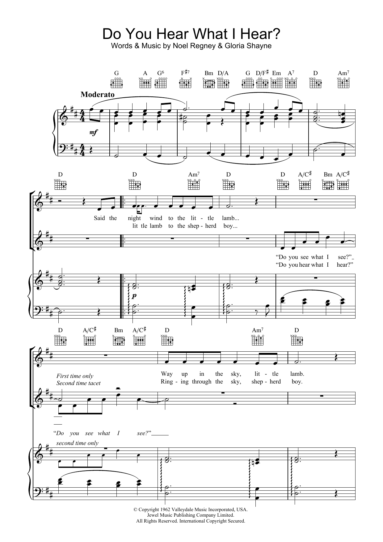 Do You Hear What I Hear? sheet music