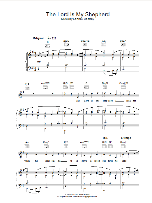 Psalm 23 - The Lord Is My Shepherd (theme from The Vicar Of Dibley) sheet music