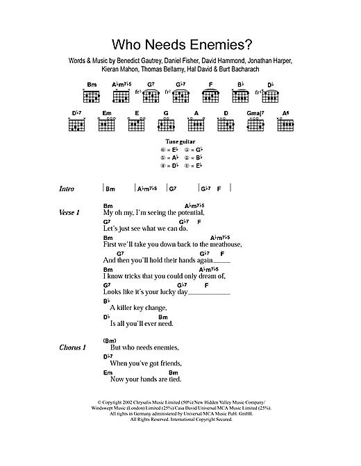 Who Needs Enemies? sheet music