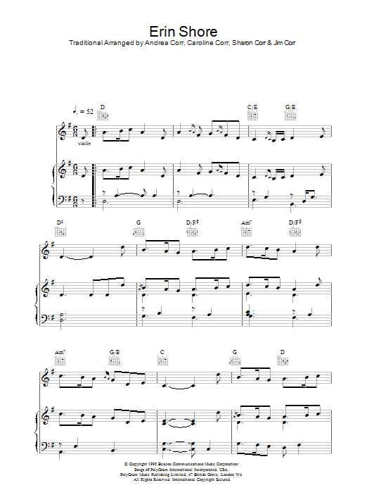 Erin Shore sheet music