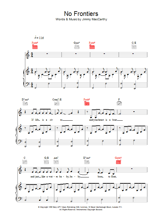 No Frontiers sheet music