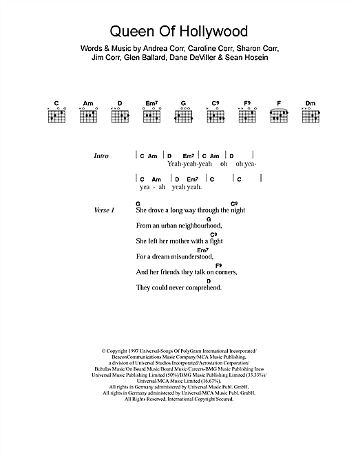 Queen Of Hollywood sheet music