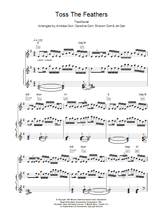 Toss The Feathers sheet music