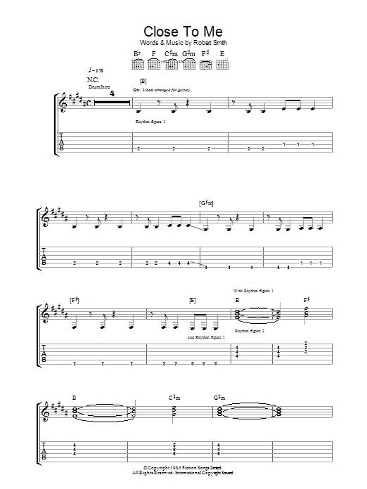 Close To Me sheet music