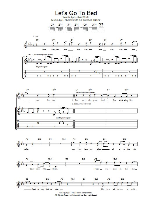 Let's Go To Bed sheet music