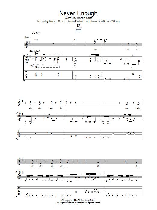 Never Enough sheet music