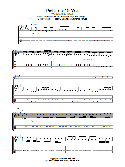 Pictures Of You sheet music