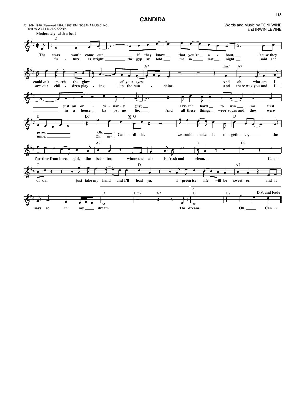 Candida sheet music