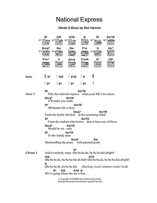 National Express sheet music