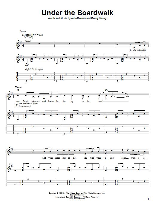 Under The Boardwalk sheet music