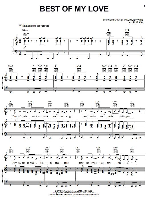 Best Of My Love sheet music