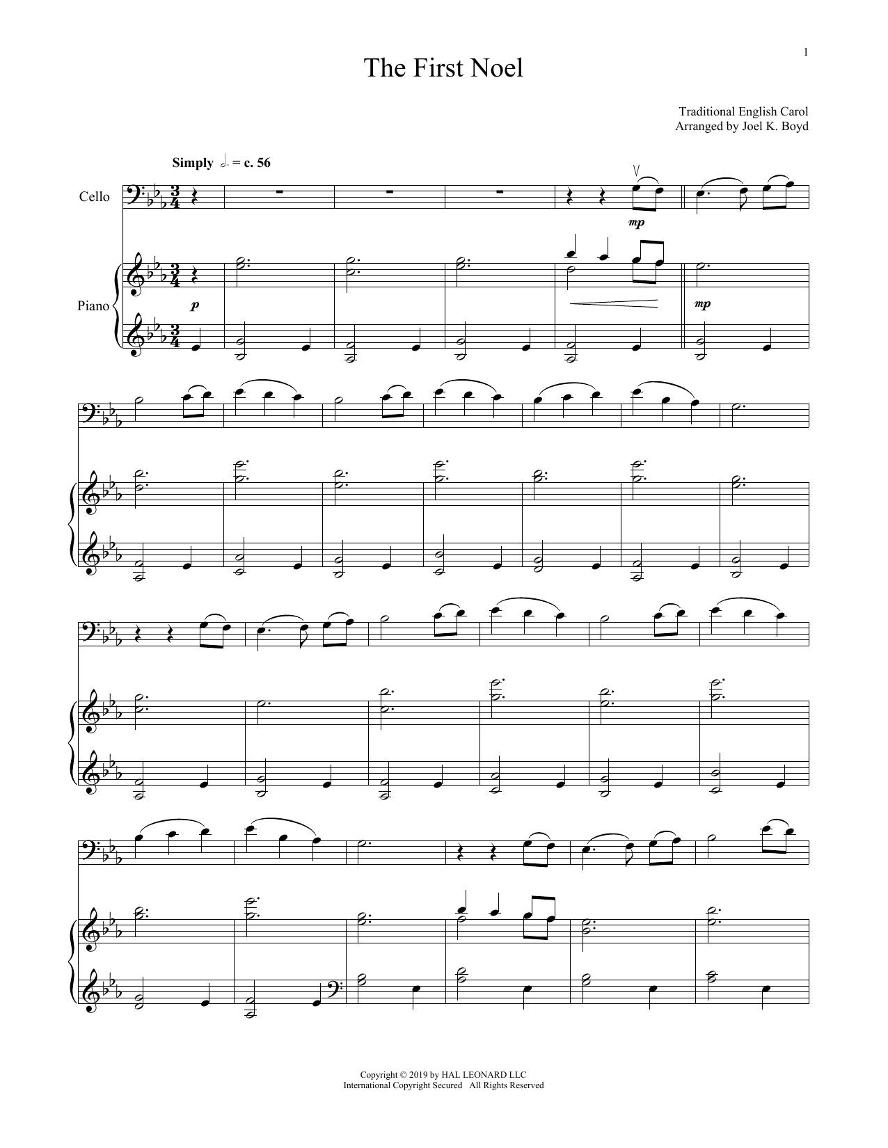 W Sandys Christmas Carols The First Noel Sheet Music Download Pdf Score 177878