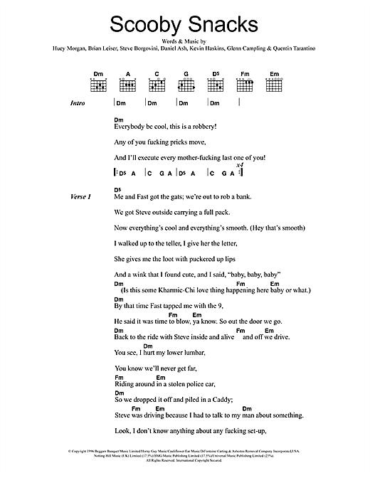 Scooby Snacks sheet music
