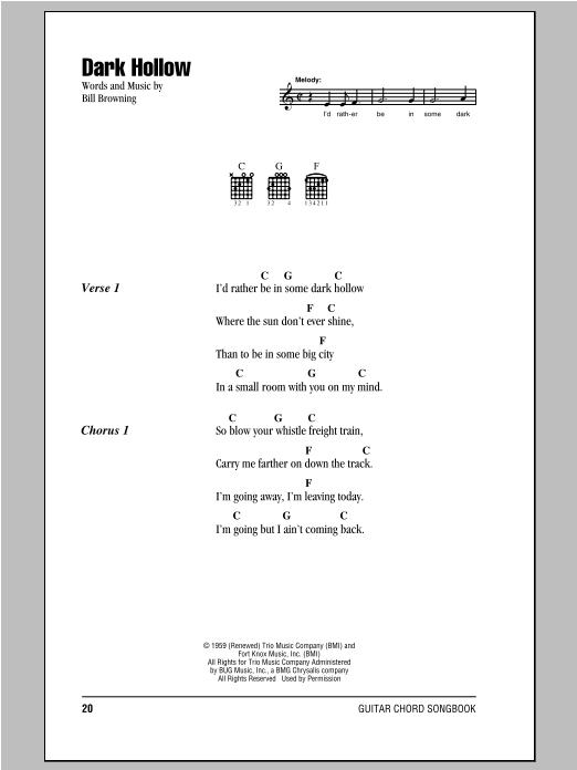Dark Hollow sheet music