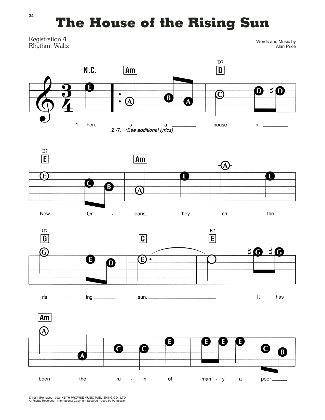 The Animals The House Of The Rising Sun Sheet Music Download Pdf Score 157194,Mirrored Bathroom Cabinets Ikea