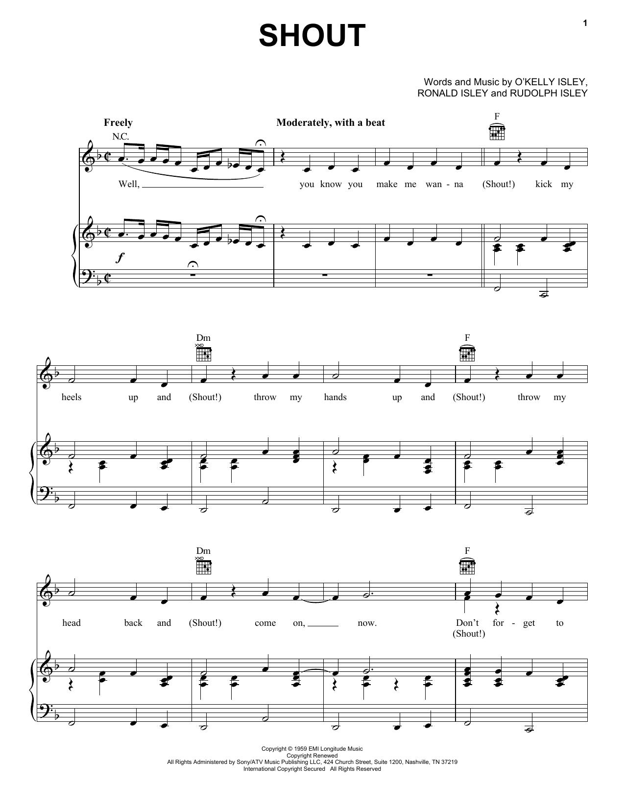 Shout sheet music