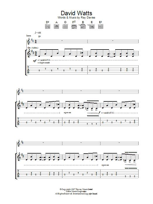 David Watts sheet music