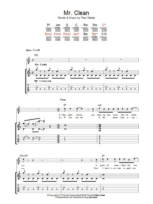 Mr. Clean sheet music