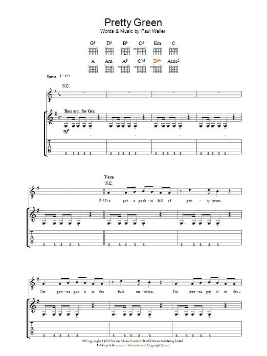 Pretty Green sheet music