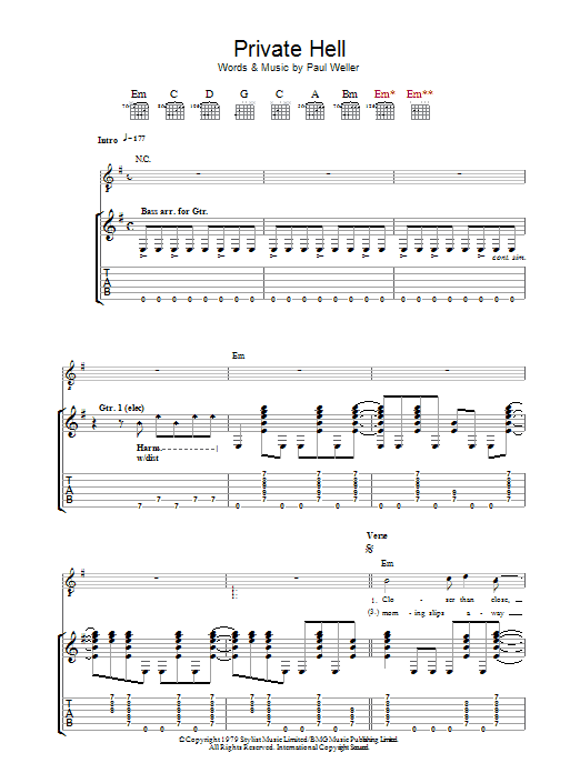 Private Hell sheet music