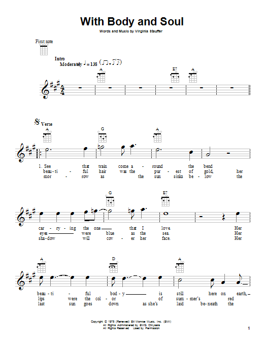 With Body And Soul sheet music