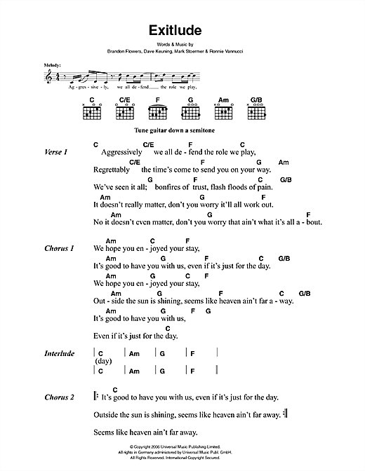 Exitlude sheet music