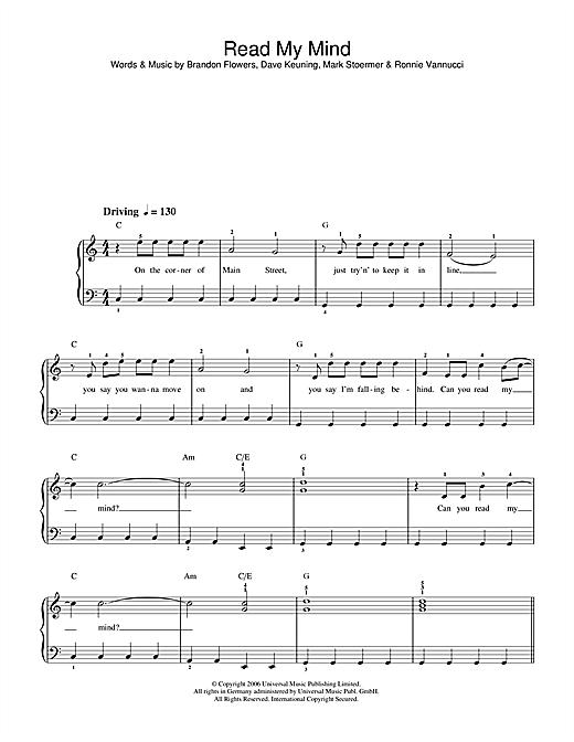 Read My Mind sheet music