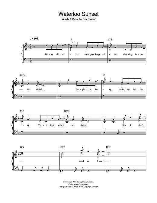Waterloo Sunset sheet music