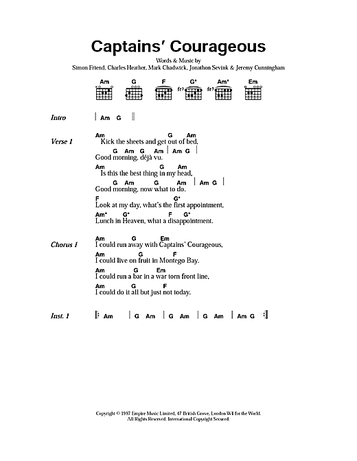 Captain's Courageous sheet music
