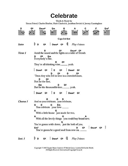 Celebrate sheet music