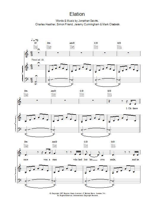 Elation sheet music