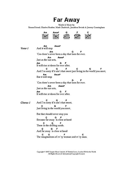Far Away sheet music