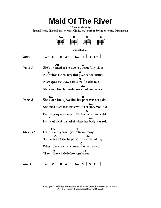 Maid Of The River sheet music