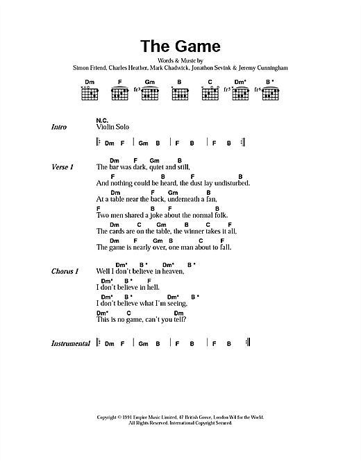 The Game sheet music