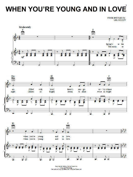 When You're Young And In Love sheet music