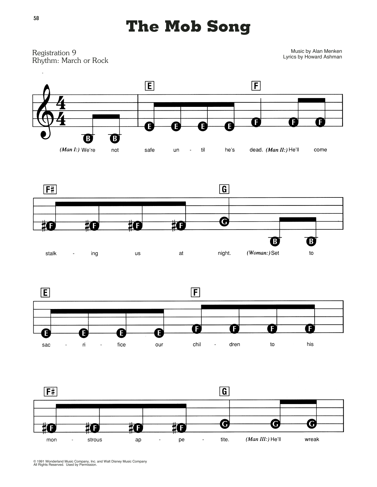 Beauty And The Beast Cast The Mob Song From Beauty And The Beast Sheet Music Download Pdf Score 181162