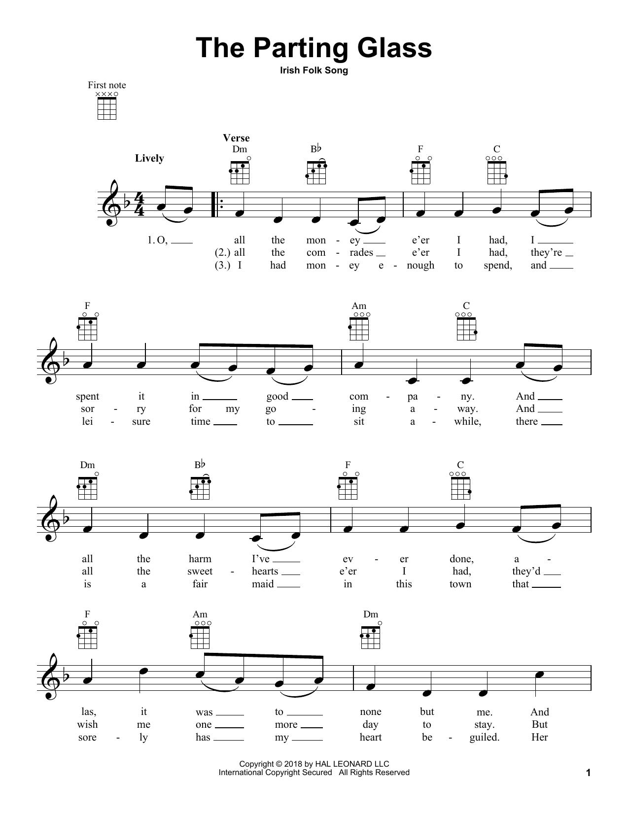 Richard Burchard 'The Parting Glass' Sheet Music Notes, Chords   Download  Printable Choral   SKU 15