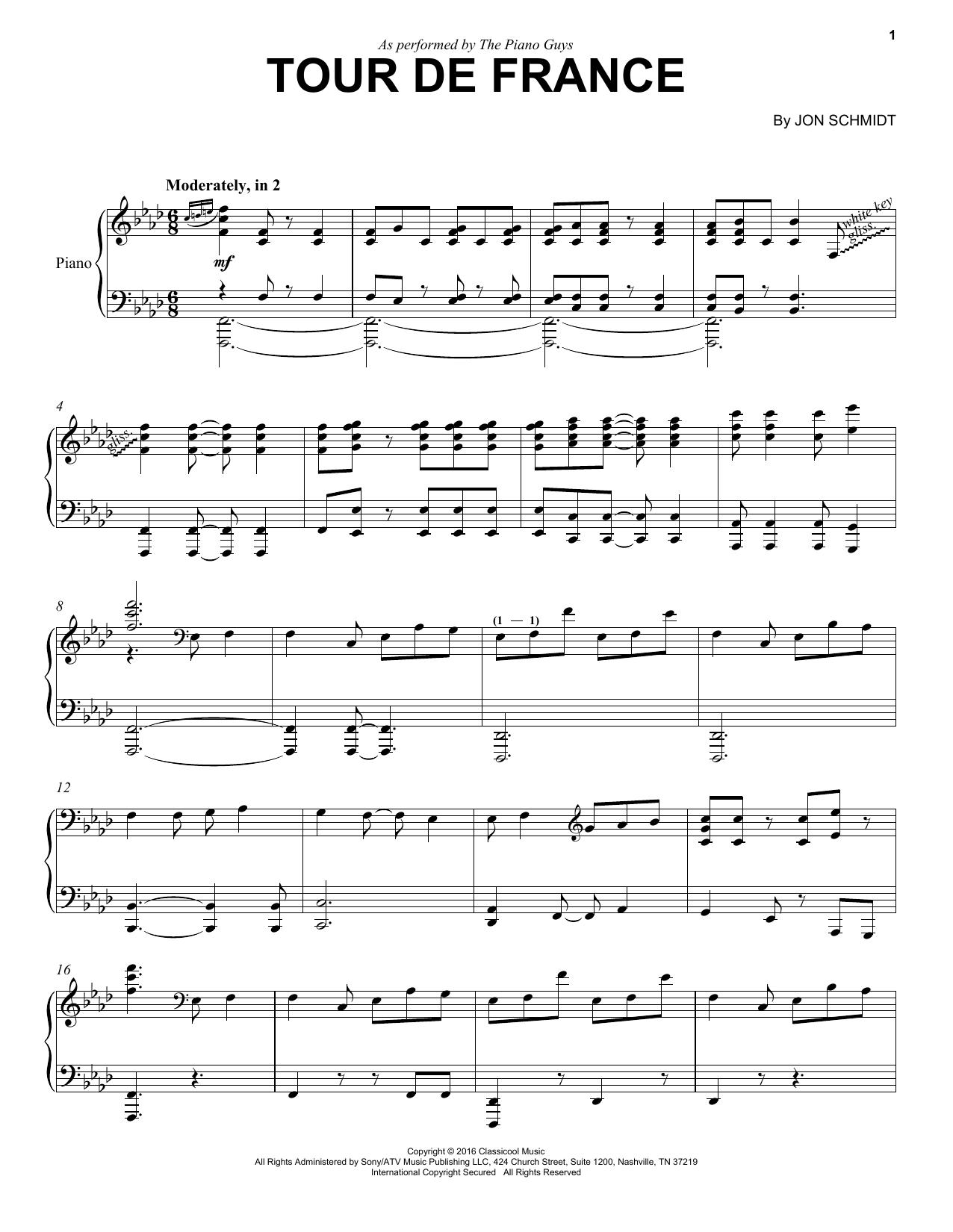 Tour De France sheet music
