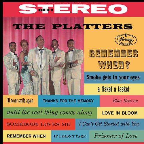 The Platters, Smoke Gets In Your Eyes, Real Book - Melody, Lyrics & Chords - C Instruments